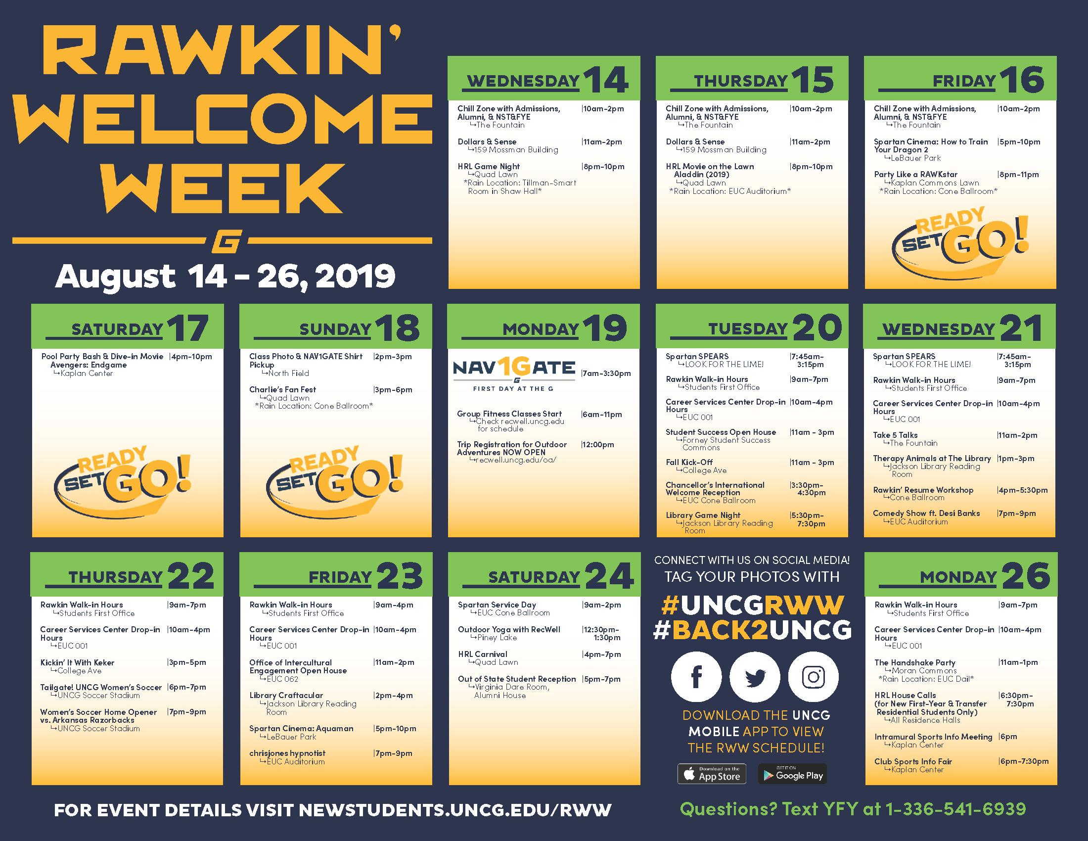 RWW calendar